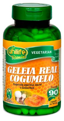 Geleia Real Cogumelo Unilife 90 cápsulas (780mg)