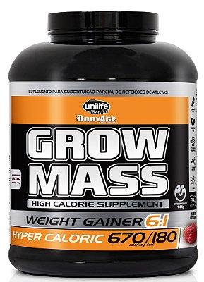 Grow Mass Hipercalórico (3 KG) Morango Unilife