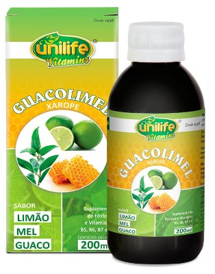 Guacolimel - Xarope com Guaco, Limão e Mel (200ml) - Unilife