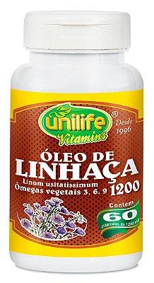 Óleo de Linhaça marrom 60 cápsulas de (1200mg) - Unilife