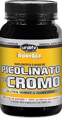 Picolinato de Cromo Unilife (120) cápsulas - Unilife