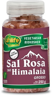 Sal Rosa do Himalaia Grosso 250g - Unilife