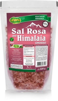 Sal Rosa do Himalaia Grosso (500g) - Unilife