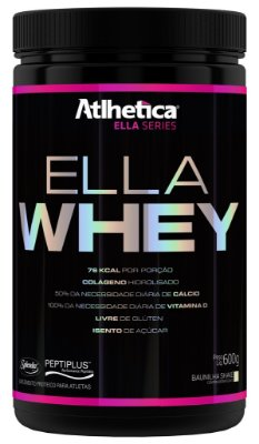 Ella Whey (600g)  Sabor Baunilha - Atlhetica Ella Series