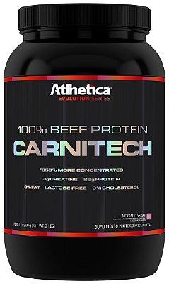 100 % Beef Protein Carnitech (900g)  Morango - Atlhetica