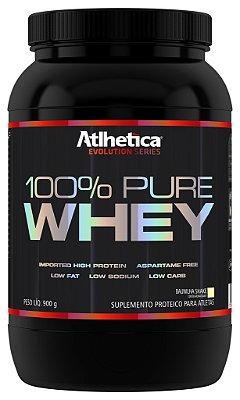 100% Pure Whey Protein (900g)  sabor Baunilha - Atlhetica