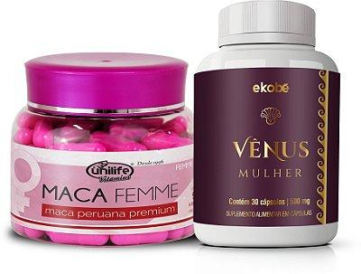 Kit Sex Energy Feminino com Venus Mulher e Maca Peruana