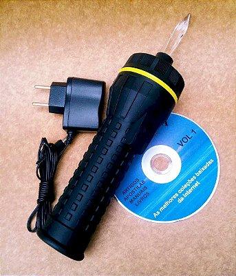 Lanterna Cromopuntura ponteira fixa