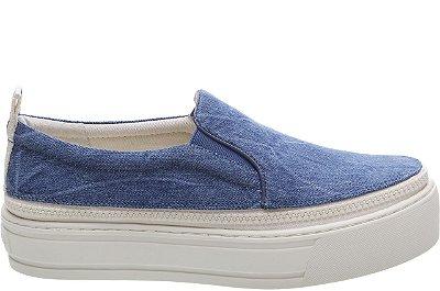 Tênis Malibu Zíper Blue Jeans Sola Alta