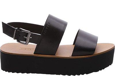 Sandália Flatform Stripes Preta