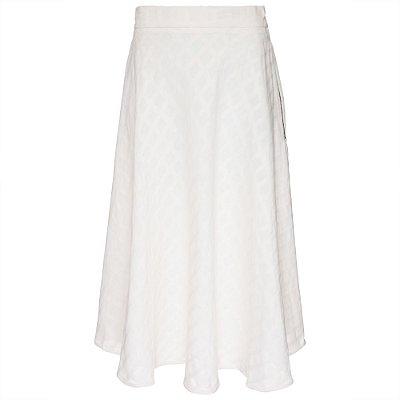 Saia Quadriculada Godê Branca