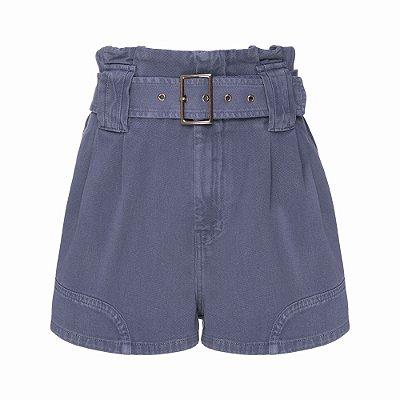 Shorts Passante Cinto Azul