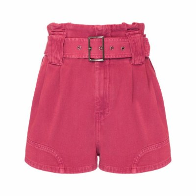 Shorts Passante Cinto Rosa