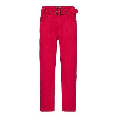 Calça Passante Cinto Rosa