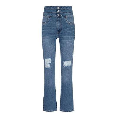 Calça Cinturão Jeans