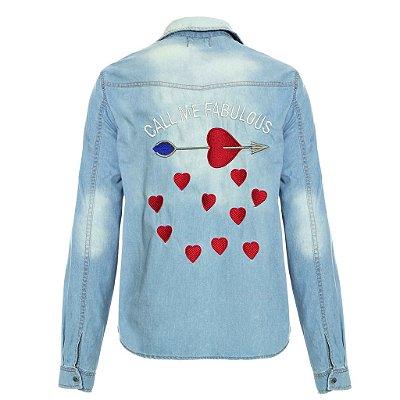 Camisa Jacket Call Me Fabulous Lavagem Clara