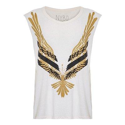 Camiseta Machão Águia Off White