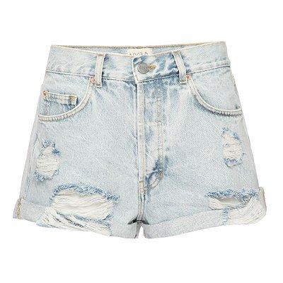 Shorts Cintura Baixa Marmorizado