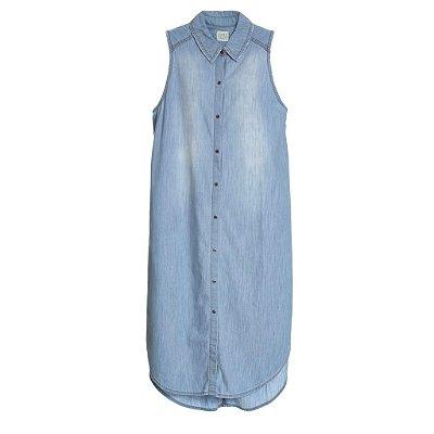 Vestido Chemise Liso