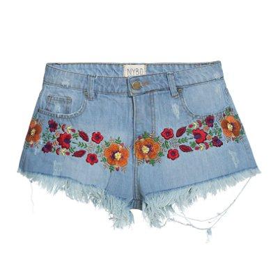 Shorts Floral Mexicano
