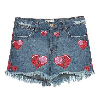 Shorts  Coração Mica