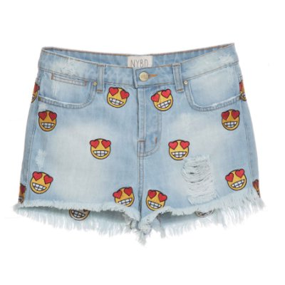 Shorts High Waisted Emoji Mica