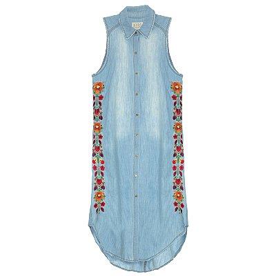 Vestido Chemise Floral Mexicano