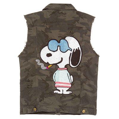 Colete Camuflado Snoopy