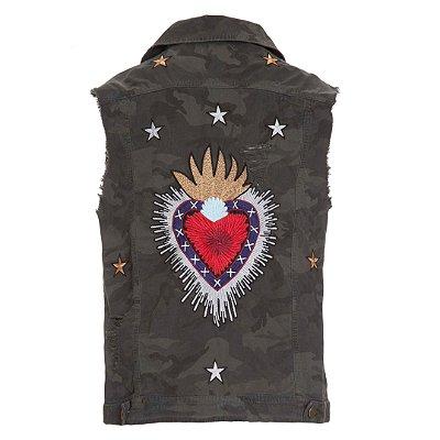 Colete Camuflado Novo Coração Sagrado