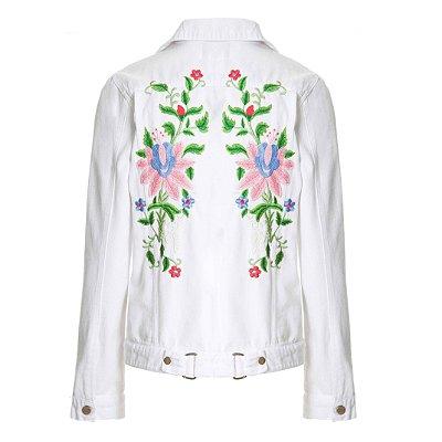 Jaqueta Branca Floral