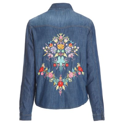 Camisa Jacket Flores Color Escura