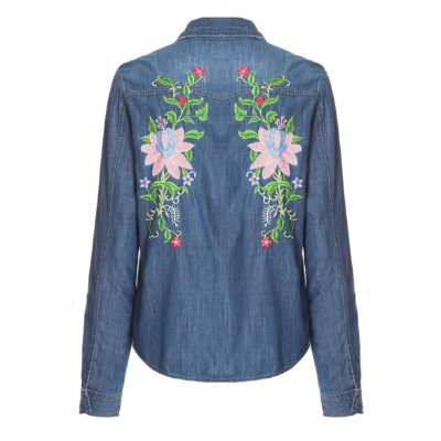 Camisa Jacket Floral Escura