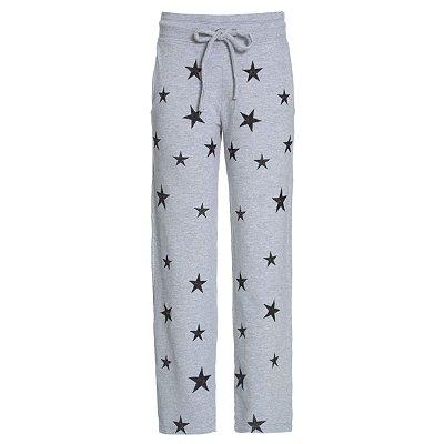 Calça Moletom PJ Mescla Estrelas Pretas