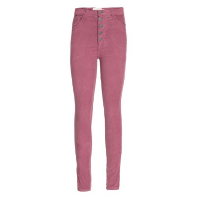 Calça Veludo Skinny High Waisted Blush