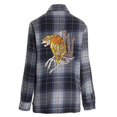 Camisa Xadrez Tigre
