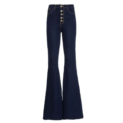 Calça Flare High Waisted Azul MOLETOM