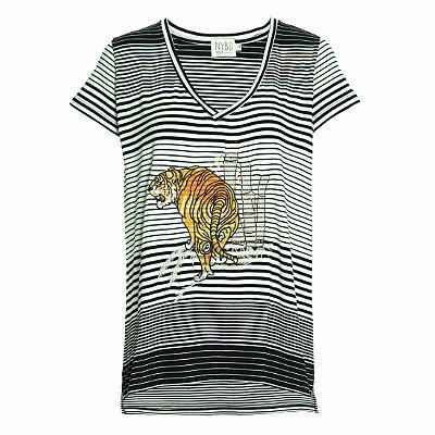 Camiseta Cozy Listras Tigre