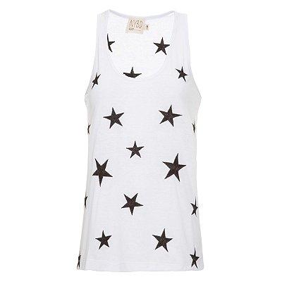 Regata Cozy Branca Estrelas