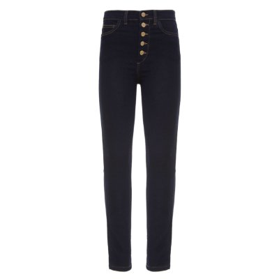 Calça Skinny High Waisted Azul de MOLETOM