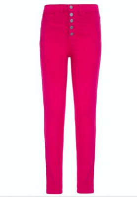 Calça Skinny High Waisted pink