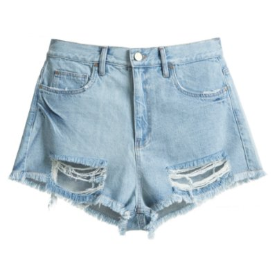 Shorts Destroyed Mica Rocha