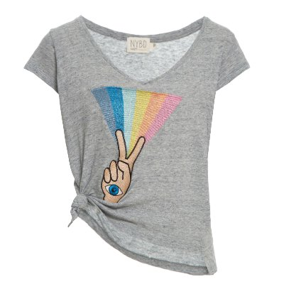 Camiseta Cozy Nó Peace Íris