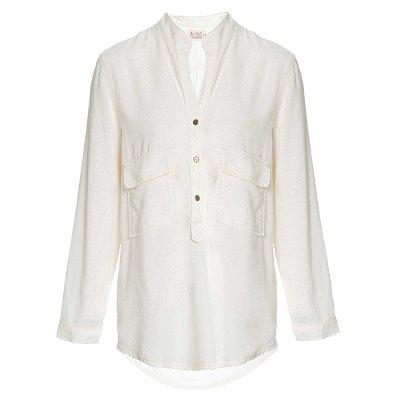 Camisa Bolso Baixo Off White