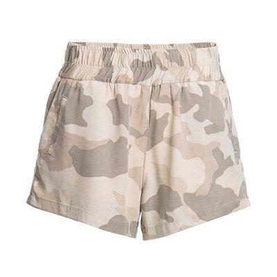 Shorts Pijama Camuflado Bege
