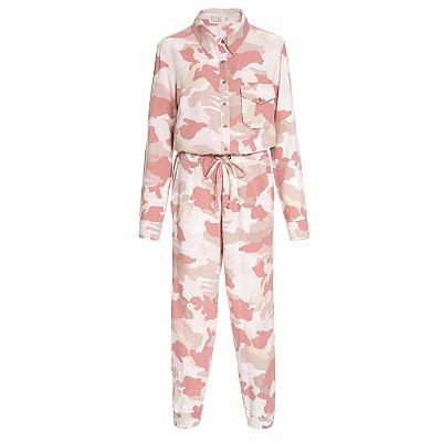 Macacão Pijama Camuflado Rosa