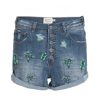 Shorts 5 Botões Cactos