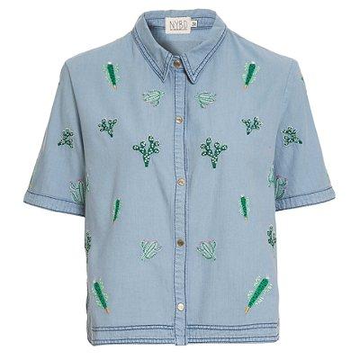 Camisa Cropped Cactos