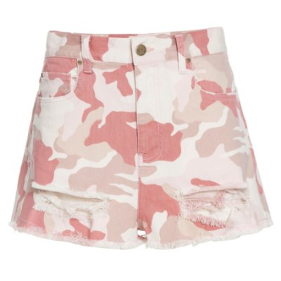 Shorts Destroyed Camuflado Mica Rocha