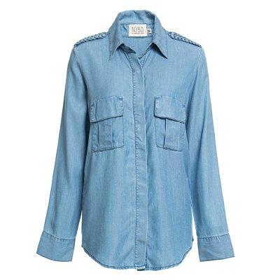 Camisa Trança Jeans