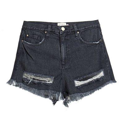 Shorts Destroyed Black Mica Rocha